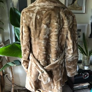 Vintage tan faux fur penny lane jacket